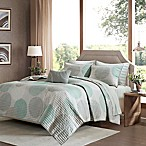 Madison Park Essentials Knowles Complete Queen Coverlet Set in Aqua