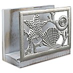 Thirstystone® Seashell Acacia Wood Napkin Holder in Silver