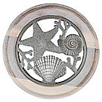 Thirstystone® Seashell Acacia Wood and Zinc Alloy Trivet in Silver