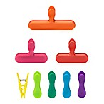 Kikkerland Design 8-Piece Rainbow Bag Clip Set in Multi