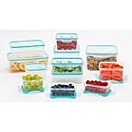 Betty Crocker 24-Piece Side Latch Food Storage Set in Blue