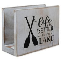 "Thirstystone® ""Life is Better at the Lake"" Acacia Wood Napkin Holder"