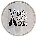 "Thirstystone® ""Life is Better at the Lake"" Acacia Wood Round Trivet"