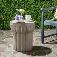 Safavieh Viesta Concrete Accent Table in Dark Grey