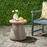 Safavieh Button Concrete Accent Table in Dark Grey