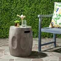 Safavieh Zuri Concrete Accent Table in Dark Grey