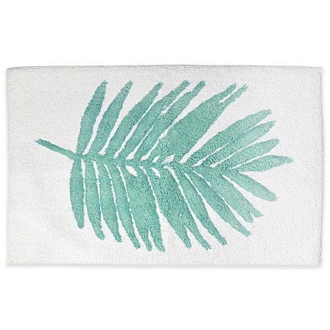 Coastal Living Palm 20 Inch X 30 Bath Rug In Green