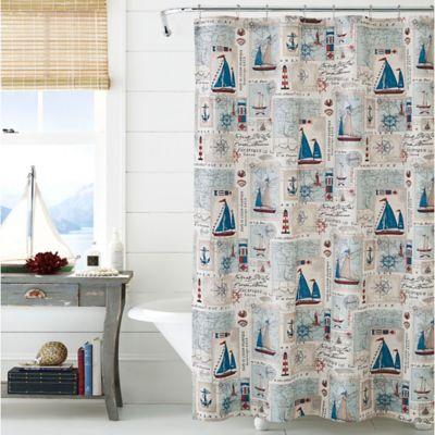 J Queen New YorkTM Harbor 72 Inch X Shower Curtain