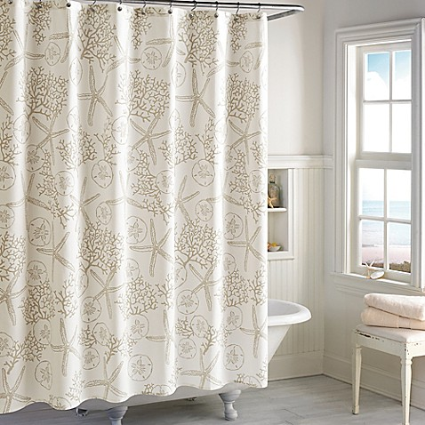 Sandy Bay Shower Curtain In Ivory