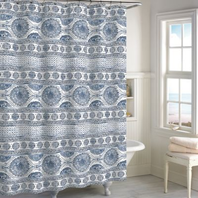 Buy Blue Cotton Shower Curtains from Bed Bath Beyond