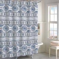Medallion Shower Curtain in Blue