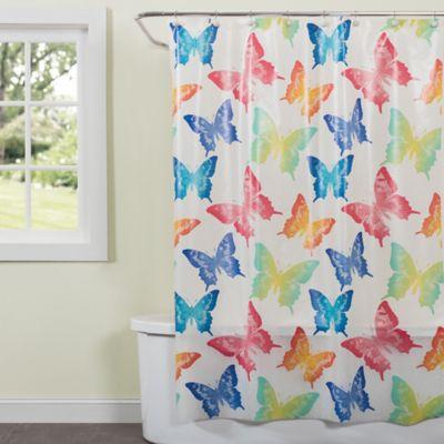 Delicieux Saturday Knight Swallowtail Butterfly Shower Curtain