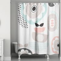Designs Direct Spring Mid Mod 74-Inch Shower Curtain in Pink