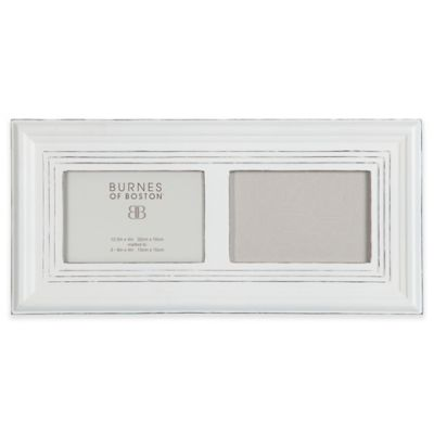 burnes of boston 2 photo wood ribbed picture frame in whitewash - Whitewashed Picture Frames