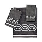 Avanti Braided Rope Velour Bath Towel in Granite