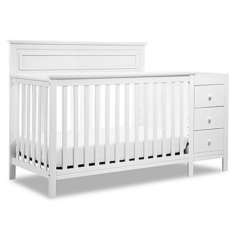DaVinci Autumn 4-in-1 Crib & Changer Combo in White ...