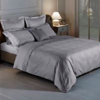 Frette At Home Arabesque Queen Duvet Cover in Grey