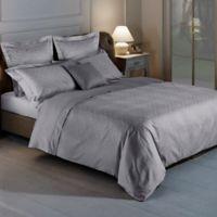 Frette At Home Arabesque Queen Duvet Cover in Grey