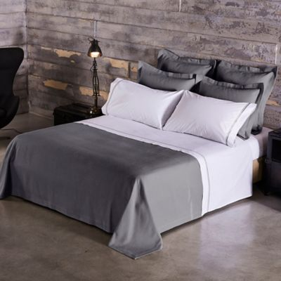 Frette At Home Creta King Quilt In Grey