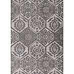 KAS Mosaic Retreat 3-Foot 3-Inch x 5-Foot 3-Inch Area Rug in Grey