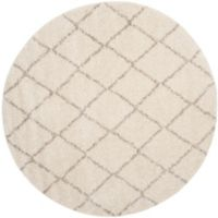 Safavieh Arizona Shag 79-Inch Round Area Rug in Ivory/Beige