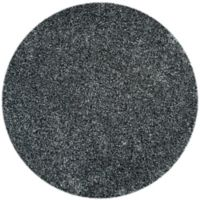 Safavieh Malibu 5-Foot Round Shag Area Rug in Charcoal