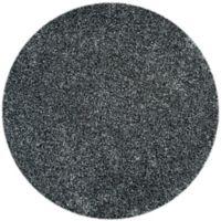 Safavieh Malibu 7-Foot Round Shag Area Rug in Charcoal