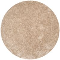 Safavieh Malibu 7-Foot Round Shag Area Rug in Natural