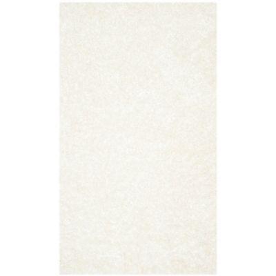 Safavieh Malibu 3 Foot X 5 Foot Shag Area Rug In White