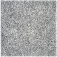 Safavieh Malibu 7-Foot Square Shag Area Rug in Silver
