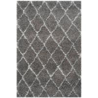 Safavieh Moroccan 3-Foot 3-Inch x 5-Foot 3-Inch Shag Area Rug in Grey/Ivory