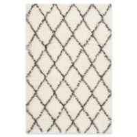 Safavieh Moroccan 4-Foot x 6-Foot Shag Area Rug in Ivory/Grey