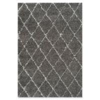 Safavieh Moroccan 5-Foot 1-Inch x 7-Foot 6-Inch Shag Area Rug in Grey/Ivory