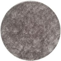 Safavieh New Orleans 5-Foot Round Shag Area Rug in Grey