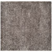 Safavieh New Orleans 5-Foot Square Shag Area Rug in Grey