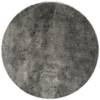 Safavieh Paris 7-Foot Round Shag Area Rug in Silver
