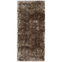 Safavieh Paris 2-Foot 3-Inch x 8-Foot Shag Runner in Sable