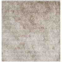 Safavieh Paris 5-Foot Square Shag Area Rug in Sable