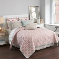 Boutique Living Sarasota Flower Burst Reversible King Coverlet in Red