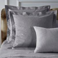 Frette At Home Arabesque European Pillow Sham in Grey