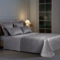 Frette At Home Arabesque Queen Coverlet in Grey