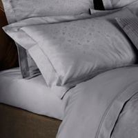 Frette At Home Arabesque Queen Coverlet King Pillow Sham in Grey