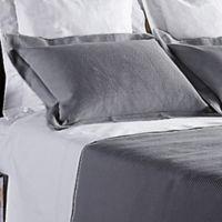Frette At Home Creta King Pillow Sham in Grey