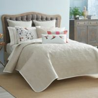Harlequin Amazilia Reversible Full/Queen Coverlet in Linen/Bone