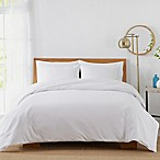 450-Thread-Count Cotton Sateen Full/Queen Duvet Cover Set in White