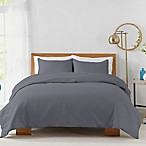 450-Thread-Count Cotton Sateen Full/Queen Duvet Cover Set in Blue