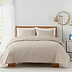 450-Thread-Count Cotton Sateen Full/Queen Duvet Cover Set in Sand