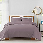 450-Thread-Count Cotton Sateen Full/Queen Duvet Cover Set in Lilac