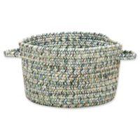 Capel Rugs Sea Pottery Small Braided Basket in Blue