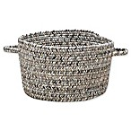 Capel Rugs Sea Pottery Small Braided Basket in Smoke